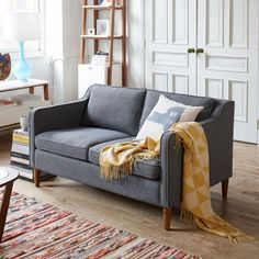 West Elm offers modern furniture and home decor featuring inspiring designs and colors. Create a stylish space with home accessories from West Elm. Living Room Sofa, Apartment Living, Living Room Decor, Living Spaces, Apartment Couch, York Apartment, Small Living, Modern Living, Living Area