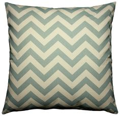 JinStyles Cotton Canvas Chevron Striped Accent Decorative Throw Pillow Cover (Gray Blue and Ivory, Square, 1 Cover for 16 x 16 Inserts): Home & Kitchen: 2 small pillows on couch