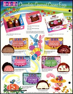 Brach's – Easter Candies – candy product catalog – Page 02 – April 1972 - Modernes Retro Candy, Vintage Candy, Vintage Food, Vintage Stuff, Retro Recipes, Vintage Recipes, Retro Advertising, Vintage Advertisements, Vintage Easter