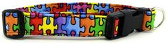 Collar Planet - Autism Awareness Rainbow Puzzle Dog and Cat Collars, $11.99 (http://www.collarplanetonline.com/cat-collars/autism-awareness-rainbow-puzzle-dog-and-cat-collars/)