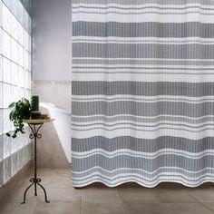 Seersucker Multi Bands Shower Curtain