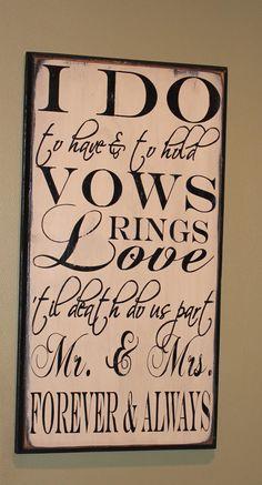 WEDDING Subway Sign/ I DO/Shower Gift/ by TheGingerbreadShoppe, $45.00