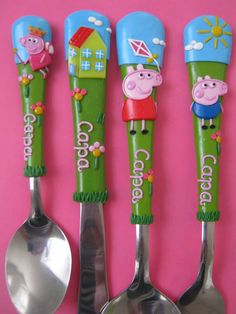 Polymers, Cutlery Set, Handmade Polymer Clay, Clay Creations, Measuring Spoons, Biscuit, Kittens, Jar, Baby Shower