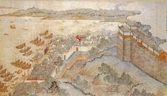 Shangahi  around 1821, eastern gate and Huangpu river