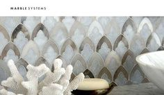 Not as old as it looks. Marble Systems produces stone tiles that have been antiqued. #housetrends http://www.designsurfacesdist.com