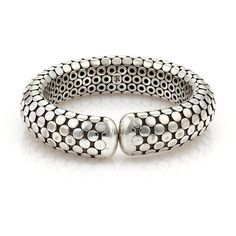 Pre-owned John Hardy Sterling Silver Flex Cuff Bangle Bracelet ($795) ❤ liked on Polyvore featuring jewelry, bracelets, pre owned jewelry, sterling silver jewelry, john hardy jewelry, sterling silver jewellery and polish jewelry