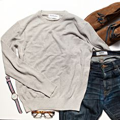 I really like a clean fresh simply light grey. As a top, under a jacket, with jeans...