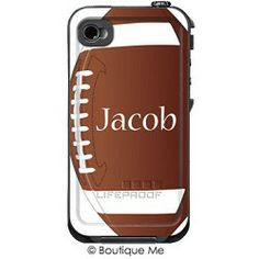 Football Monogrammed LifeProof Cases | Football Personalized LifeProof Case