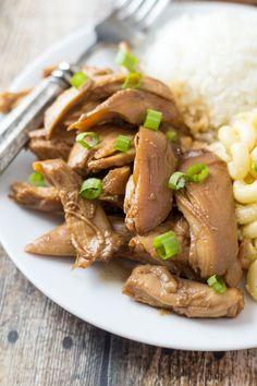 Hawaiian Shoyu Chicken - the recipe is so easy you can memorize it!