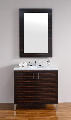 Very clean lines and ample storage make these vanities http://www.listvanities.com/discount-bathroom-vanities.html a welcome addition to your bathroom. Hand-crafted from North American Birch hardwoods and featuring exotic veneers like Macassar Ebony, American Walnut and White Oak, the bathroom vanities compliment todays modern interiors.