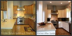 kitchen staging, before and after staging a kitchen, staging to sell, dallas, tx