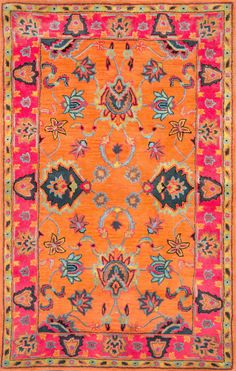 RugStudio presents the Hand Tufted Montesque Orange by Nuloom.