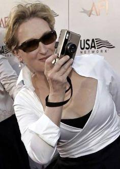 Meryl Streep with Minilux