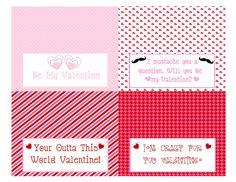 Free printable (Valentine's Day goody bag topper for students.