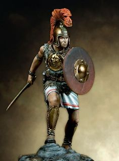 Warrior Tattoos, Designs And Ideas : Page 37 Greek Warrior, Warrior 1, Punic Wars, Roman Legion, Warrior Tattoos, Roman Sculpture, Man Of War, Military Figures, Carthage