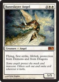 Baneslayer Angel - Magic 2011 Magic: the Gathering - Online Gaming Store for Cards, Miniatures, Singles, Packs & Booster Boxes Les Innocents, Dragons, Angel Flying, Mtg Decks, Mtg Art, Magic The Gathering Cards, Angel Cards, Magic Cards, Wizards Of The Coast