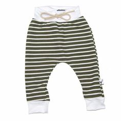 969513d1a01f09 Harem Leggings - Olive Green   White Stripe - Tenth   Pine