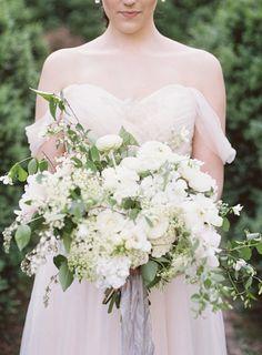 Elegant garden wedding bouquet: Photography : Camille Catherine Photography Read More on SMP: http://www.stylemepretty.com/virginia-weddings/leesburg/2016/09/01/english-estate-garden-wedding-inspiration/