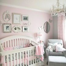 Pink and gray - Love this color combo for an older little girl's room. I think the gray with light blue and lime would be great for a boy's bedroom too.