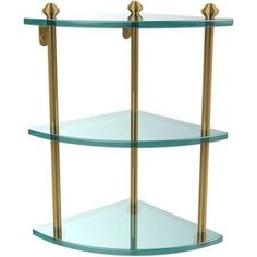 Southbeach Collection 3-Tier Corner Glass Shelf (Build to Order)
