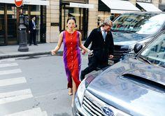 Tina Leung in a Delphine Delafon dress