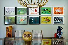 Charles Harper bird prints.