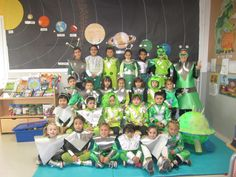 Alien Costumes During An Outer Space Unit