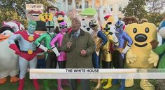 Al Roker on White House Front Lawn With Crazed Mascots. NBD.