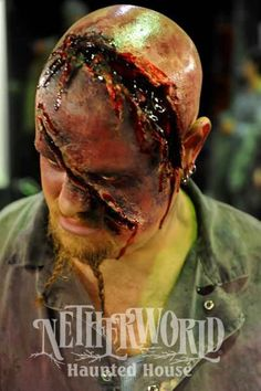 Chainsaw Wound. Awesome Special FX work!!    I wish I could work there so freaking bad