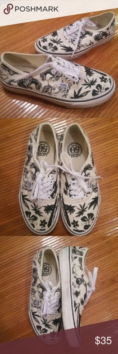 Vans 50yr Anniversary sneakers sz. 6.5 Wo 8 Vans 50yr Anniversary offwhite color sz. MENS 6.5 WOMENS 8 IN EXCELLENT USED CONDITION  WORN JUST A COUPLE TIMES Vans Shoes Sneakers