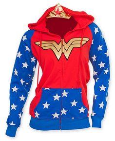 DC Comics Wonder Woman Foil Logo Crown Juniors Hoodie S My Hero 88a788c08