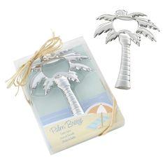 Kate Aspen Chrome Palm Tree Bottle Opener - Set of 12, Silver