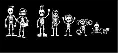 Hey, I found this really awesome Etsy listing at https://www.etsy.com/listing/89318145/skeleton-family-stick-family-vinyl-car