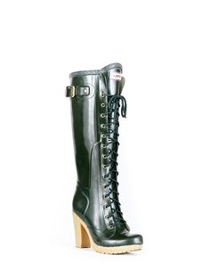 Womans Tall Lace Up Rain Boots | Fashion Boots | Hunter Boot Ltd