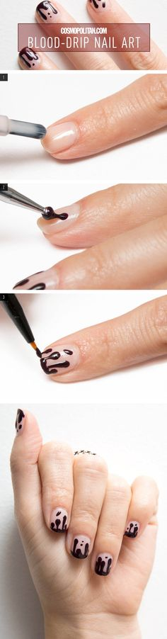 Nail Art How-To: Blood Drip Manicure