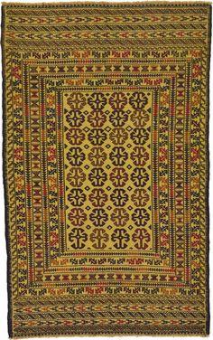 Cream 4' x 6' 3 Kilim Afghan Rug | Area Rugs | iRugs UK