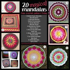 Magical mandalas are the Free Crochet Pattern Friday Pick this week! Here are 20 free crochet patterns for you to try!
