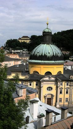 The rooftops of Salzburg, Austria. Salzburg is the fourth-largest city in Austria and the capital of the federal state of Salzburg.