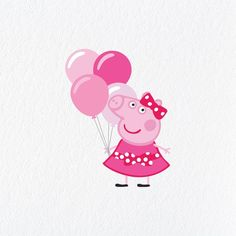 Peppa Pig is often a British isles preschool animated television set collection guided plus created Pig Birthday Cakes, 3rd Birthday Parties, Birthday Party Decorations, Special Birthday, Birthday Celebration, Invitacion Peppa Pig, Cumple Peppa Pig, Pink Balloons, Birthday Balloons