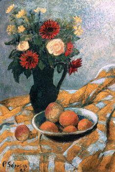 Paul Sérusier, Bouquet, Peaches and Apricots, 1925, Oil on canvas, 73 x 45 cm, Private Collection