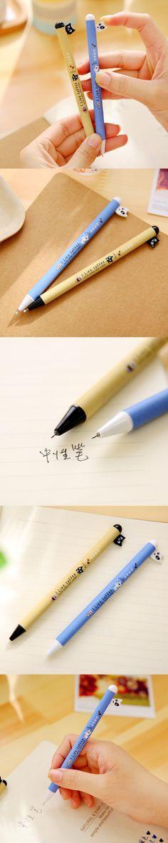1 Pcs Cute Kawaii Rabbit Animal Aihao Japanese Korean 0.5mm Gel Ink Pens Office School Writing Supplies Stationery Kids Children