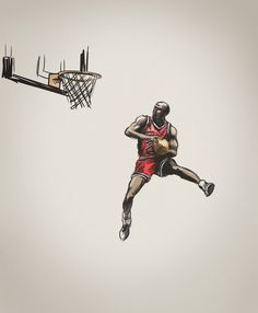 Saved by Dave Bullen (davebullen). Discover more of the best Sports, Jordan, Illustration, and Basketball inspiration on Designspiration Basketball Tattoos, Basketball Drawings, Basketball Art, Basketball Pictures, Basketball Players, Basketball Videos, Basketball Birthday, Basketball Scoreboard, Basketball Tickets