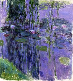 Claude Monet Water-Lilies 39 painting, oil on canvas & frame; Claude Monet Water-Lilies 39 is shipped worldwide, 60 days money back guarantee. Monet Paintings, Landscape Paintings, Flower Paintings, Landscape Art, Landscapes, Monet Poster, Van Gogh Pinturas, Artist Monet, Art Sur Toile