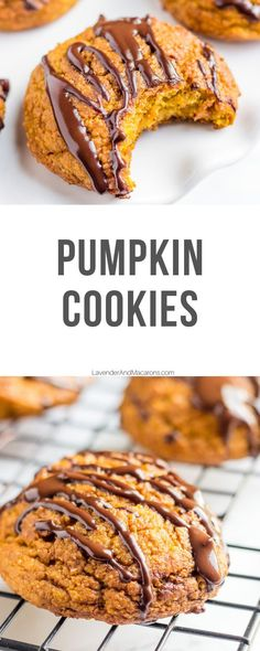 Healthy Cookies with a simple chocolate glaze are an easy fall recipe that is perfect for snacking, breakfast, or simple dessert. Best eggless and dairy-free cookies your family will love.