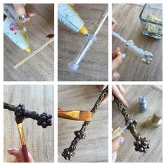 DIY Magic Wands – Wizarding Harry Potter World of The Party Event - Laynas birthday party - Harry Potter Diy, Harry Potter World, Objet Harry Potter, Theme Harry Potter, Harry Potter Halloween, Harry Potter Wedding, Harry Potter Birthday, Magic Wand Harry Potter, Baguettes Harry Potter