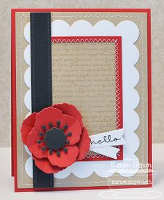 Pretty Poppies Stamps and Poppy Builder Die-namics from My Favorite Things