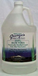 George's Aloe Vera Juice: Amazon.com: Grocery & Gourmet Food ~ I drink 2 ounces in am and pm!  Since starting the aloe all of my stomach issues have disappeared!  I don't feel any bloating or burning any more!  Will not go another day with out it.  This brand is completely taste free!  Its like drinking really refreshing water!  Luv it!