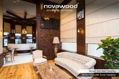 Novawood carries its outdoor product experience and quality to indoors with Novart Decorative Wall Coverings. #thermowood #wallcoverings #duvarkaplama #dekorasyon #decoration #interiordesign #interiordesigner #homedesign #moderndesign #restorasyon #tvünitesi #ahsaptasarim #wood #wooddesign #woodworking #woodwall #woodart #architecture #renovation #homedecor #construction #building #sustainable #hospitality