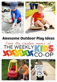 Awesome Outdoor Activities from The Weekly Kids Co-Op at B-InspiredMama.com