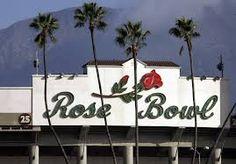 The Rose Bowl stadium in Pasadena. (Al Seib / Los Angeles Times) Rose Bowl Pasadena, Rose Bowl Game, Rose Bowl Stadium, Parade Route, Place To Shoot, City Of Angels, California Dreamin', Printed Tote Bags, Viera